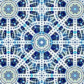 Mostly Blues: Spinning Wheel - Wallpapered