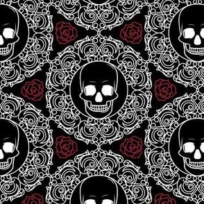 Boneyard Damask | Black