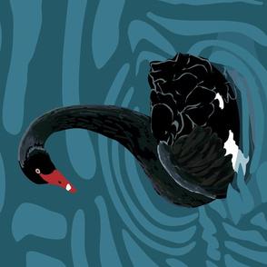 Australian Black Swan tea towel - lc layout