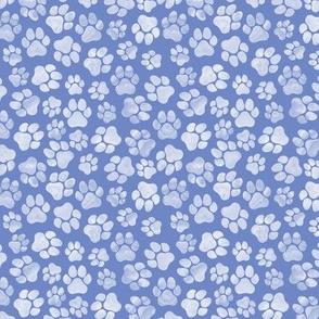 Sky Blue Paw Prints