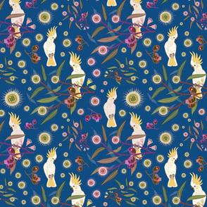 Cockatoo Gum Tree Garden - classic blue, medium