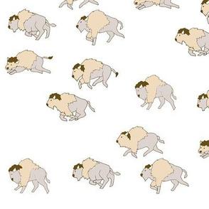 White Buffalo Herd on White