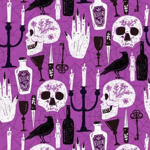 gothic halloween pattern