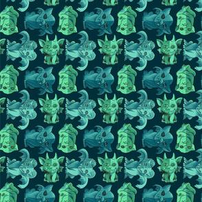 Green Gargoyles large scale