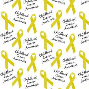 Small Scale Childhood Cancer Awareness Ribbons