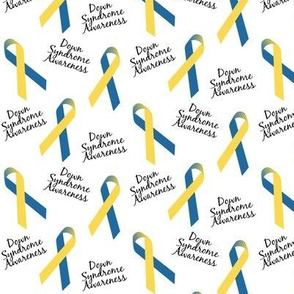 Small Scale Down Syndrome Awareness Ribbons