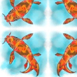 Autumn Koi Fish
