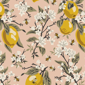 Bees & Lemons - Blush - Large