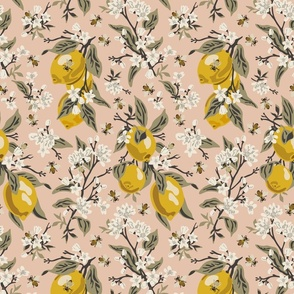 Bees & Lemons - Blush - Medium