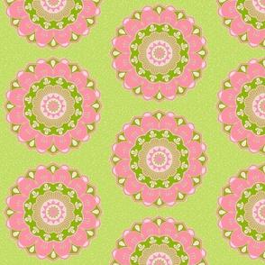 pink and green mandala