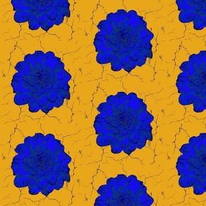 Blue Gold Crackle