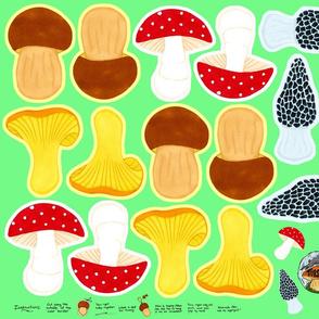Mushroom Ornaments Cut n Sew