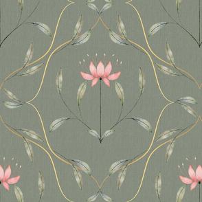 Art nouveau tulip pattern