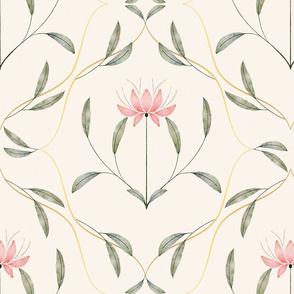 Art nouveau magnolia flower
