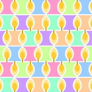 10493804 : candle 2x 6 : pastel