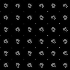 Halloween Skulls - Moonless Night - Poisonous Flowers Coordinate