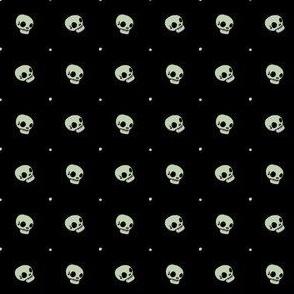 Halloween Skulls - Night Garden - Poisonous Flowers Coordinate