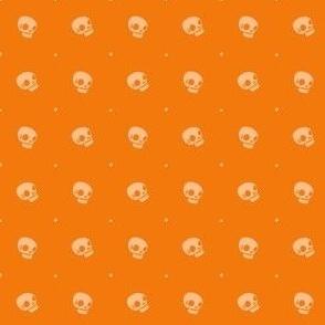 Halloween Skulls - Pumpkin - Poisonous Flowers Coordinate