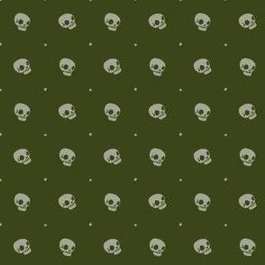 Halloween Skulls - Wormwood - Poisonous Flowers Coordinate