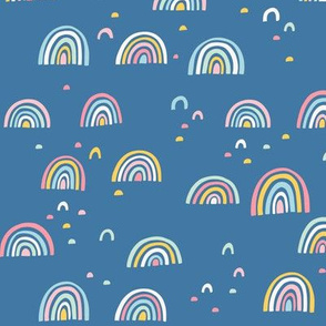 Colorful Rainbows and Abstract Shapes