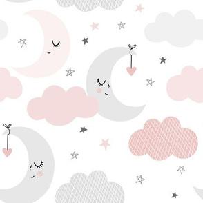 Pink and Gray Night Sky