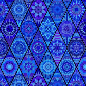 Diamond Mandalas--Royal Blue