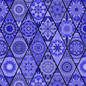 Diamond Mandalas--Periwinkle Blue