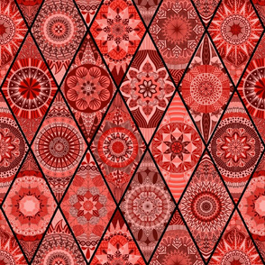 Diamond Mandalas--Red