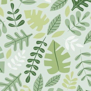 Jungle Foliage in Shades of Green