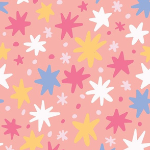 Multicolor Floral on Coral
