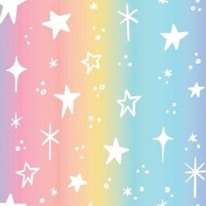 Rainbow Ombre Star