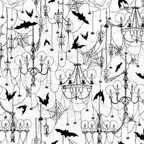 Creepy Gothic Spiderweb Chandeliers