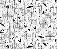 Creepy Gothic Bats and Spiderweb Chandeliers