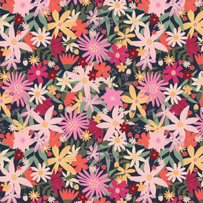 Thrive Pink Multicolor Floral