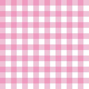 Pink & White Gingham Plaid