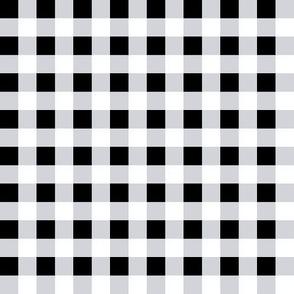 Black & White Gingham Plaid