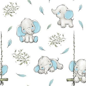 elephant cloud feather