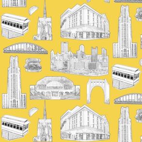 Pittsburgh Toile Yellow