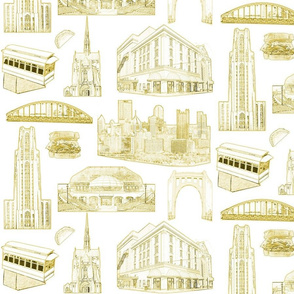 Pittsburgh Toile Gold