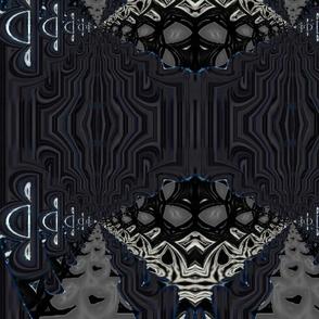Faux Texture Midnight Diamonds on Black