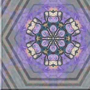 Pastel Mandala on a Background of  Silver-Gray.