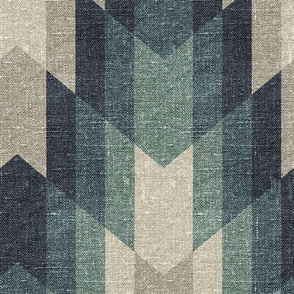 Tribal Texture Pattern 1 Muted Forest - large scale