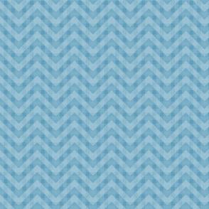 Vintage Blue Chevron Pattern (Mini Scale)