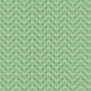 Vintage Green Chevron Pattern (Mini Scale)