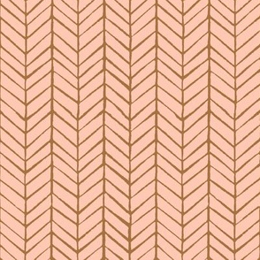 rosé herringbone - smaller