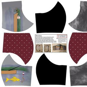 4 Men's Tie-Inspired Masks on FQ by Shari Lynn's Stitches