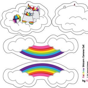 Rainbow Unicorn Corona Cat