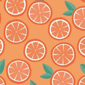 Fall citrus orange garden daisies blossom and leaves autumn fruit burt orange