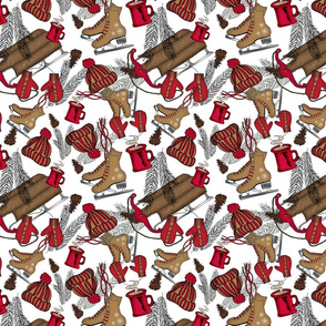 """8"""" Christmas Outdoors Activities Red 