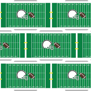 Football Field Helmet and Football Sports Pattern